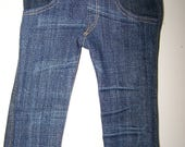 Up-Cycled 4 Pocket Skinny Jeans - fits 18 inch Girl and Boy Dolls