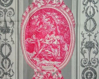 Histoire des Sens French Toile de Jouy Fabric /  Sewing Project / Country French Home / Cushions Patchwork
