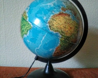 French world globe lamp