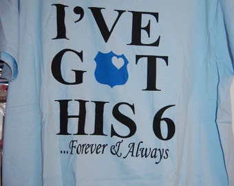 Ive Got His 6 Forever & Always Ladies T-Shirt size Xlg  Free Shipping