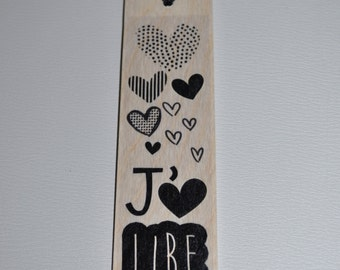 Bookmark in wood - I like to read