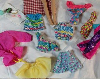 Barbie brush. Barbie swimsuit. Barbie. Vintage Barbie. Barbie clothes. Barbie accessories. Barbie purse. Barbie sunglasses. Barbie shoes