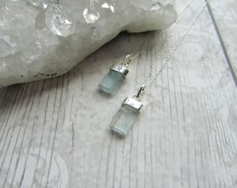 Blue Topaz 925 Sterling Silver Pendant Necklace Gemstone Natural Blue Jewellery