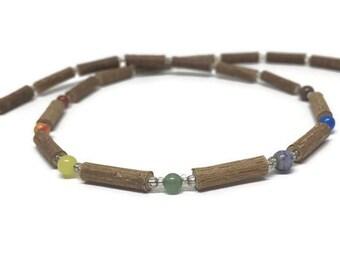 Hazelwood and Chakras necklace