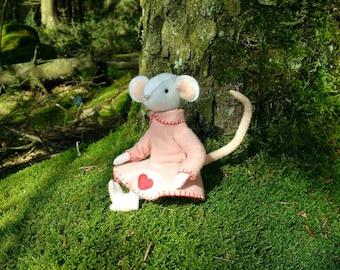 Rosie Mouse - felt mouse - art doll