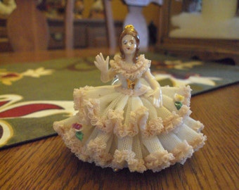 Art Figurine—Dresden Lace Doll
