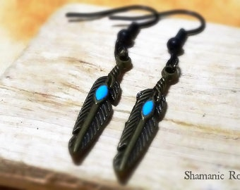 Majestic AF Tribal Witch Feather Earrings ~ Wild Woman ~ Native Pride ~ Shaman ~ Air & Sky Spirits ~ BOHO ~ Gypsy ~ Fabulous