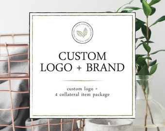 Custom Branding Package Design Package Including Custom Logo Design and Four Collateral Items - Photography Small Business Marketing