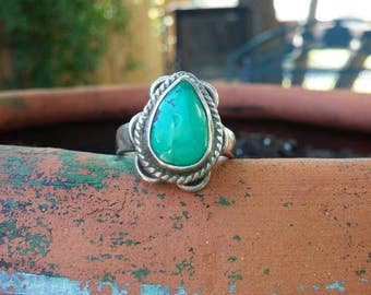 Turquoise Sterling Silver Ring size 8.25
