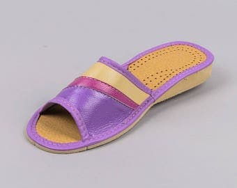 Womens Leather Slippers #24