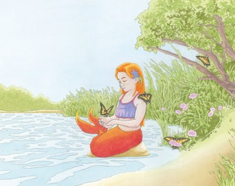 The Mermaid in Rehoboth Bay, Cover Art Print