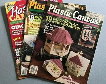 Lot of 3 Plastic Canvas Magazines, 1992 & 1994