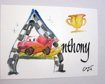 Pixar Cars name painting/ Planes etc...