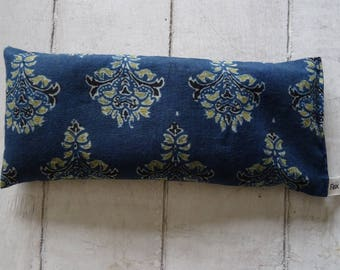 Eye Pillows - Organic Lavender & Flaxseed Navy Block print