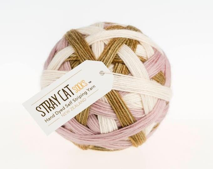 MAUDE - vibrant hand dyed self striping sock yarn