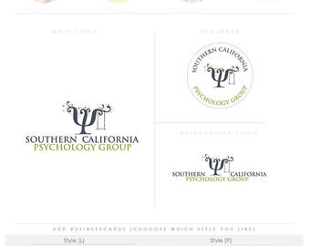 whimsical happy tree -  Premade psycology Logo and Watermark, Classic Elegant Script Font TREE children , photography branding kit