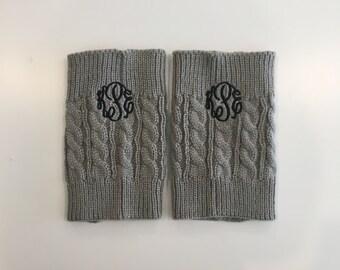 Monogrammed Boot Cuffs, Boot Cuffs, Boot Socks, Monogrammed Gift, Monogram Boot Sock, Monogram Boot Cuff, Knit Boot Socks, Christmas Gift