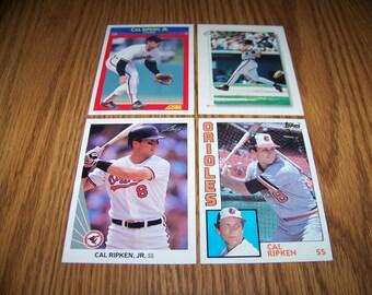 4 Vintage Cal Ripken jr. (Baltimore Orioles) Cards