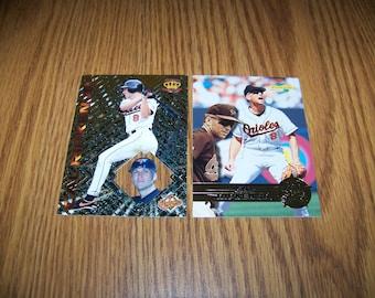 2 Vintage Cal Ripken jr. (Baltimore Orioles) Baseball Cards
