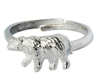 Bear Ring Animal Silver Ring 199S
