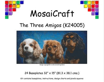 MosaiCraft Pixel Craft Mosaic Art Kit 'The Three Amigos' (Like Mini Mosaic and Paint by Numbers)