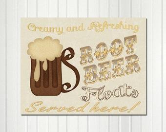 Sock Hop Birthday, Fifties, 1950's,  Sock Hop, Root Beer Float, Sign, Retro, Decoration