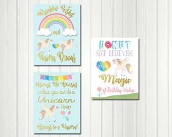 Rainbow Unicorn Signs, Unicorn Sign, Rainbow Unicorn Party, Unicorn Party, Unicorn Sign,Rainbow, Unicorn, Sign