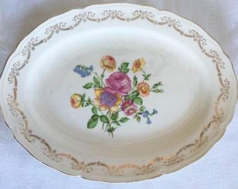 1947 Edwin M. Knowles Floral Platter