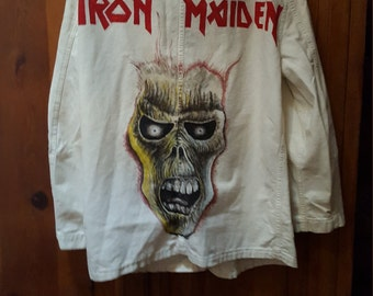 Vtg. Iron Maiden Jacket Size According To  Measurements Listed