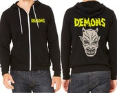 Demons zip up hoodie Italian 80's horror