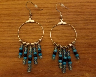 Hoop Earrings with Beads