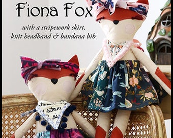 Pixie Faire Violette Field Threads Fiona Fox Animal Doll Pattern  - PDF