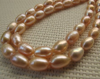 6-10mm Pink Freshwater Rice Pearl PL107