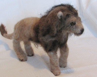 Lion Or  Tiger Cat  Needle Felted