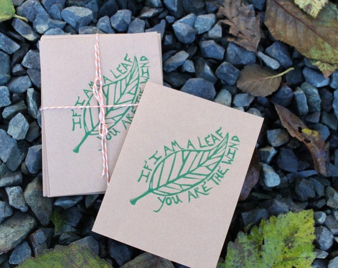 If I Am A Leaf Greeting Card