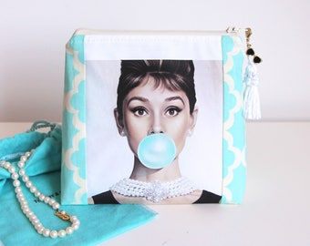 Audrey Hepburn Breakfast At Tiffany's Cosmetic Bag Jewelry Pouch