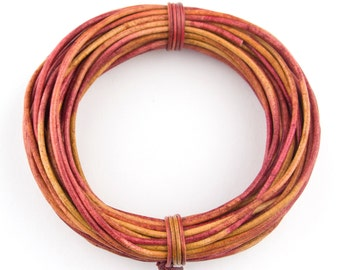 Gypsy Irasa Natural Dye Round Leather Cord 1mm 10 Feet