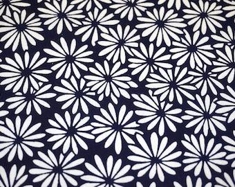 Kiku Vintage Japanese indigo cotton kimono fabric