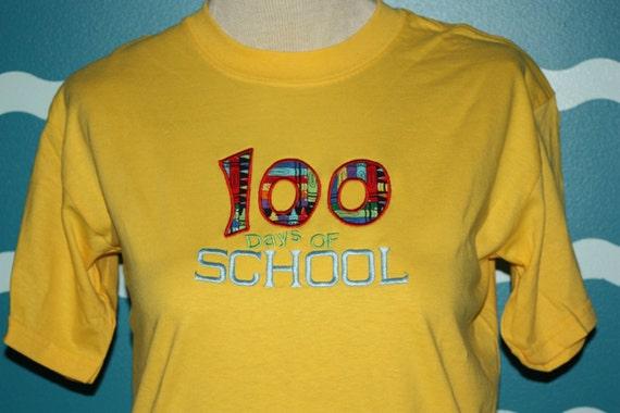Youth 100 days school - kids school t-shirt - school spirit shirt - 100 days spirit wear