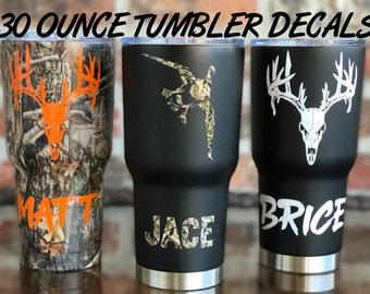 30 ounce Hunting DECAL / Hunting / Deer Hunter/ Buck / Duck Hunter / Yeti Hunting Decal / RTIC Hunting Decal