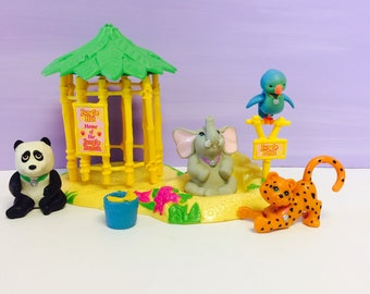 Vintage Littlest Pet Shop, Zoo Jungle Bunch,  Generation 1 LPS, Zoo Collection, Elephant, 1990s Littlest Pet Shop, 1990s Kenner, 1990s Toys