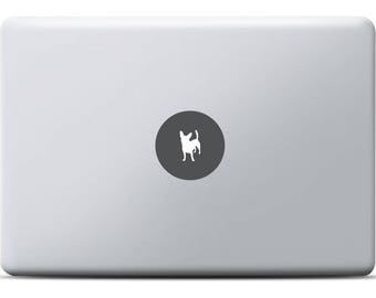 Chihuahua MacBook Sticker, Laptop decal, Vinyl decal, MacBook Pro, MacBook Air, Cute little dog, Races of dog, Animal, Grey vinyl