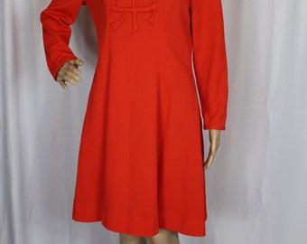 60s Stephen O Grady orange dress