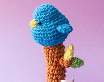 Bird baby rattle | Crochet toy | Amigurumi Bird | Baby Shower gift | Ecofriendly newborn gift