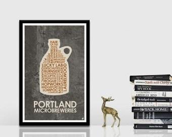 Portland Breweries Poster