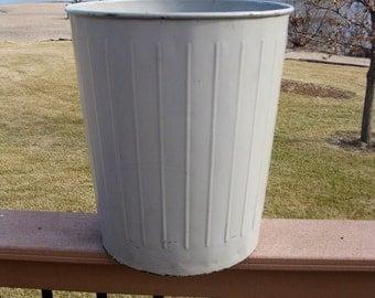 Rustic Trash Can Etsy