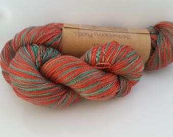 Strawberry Fields - hand painted lace weight silk yarn