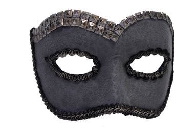 Greely Grey Textured Masquerade Mask for Men A-2612