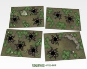 Tabletop RPG Forest Hex Grid Terrain Tiles Set #2