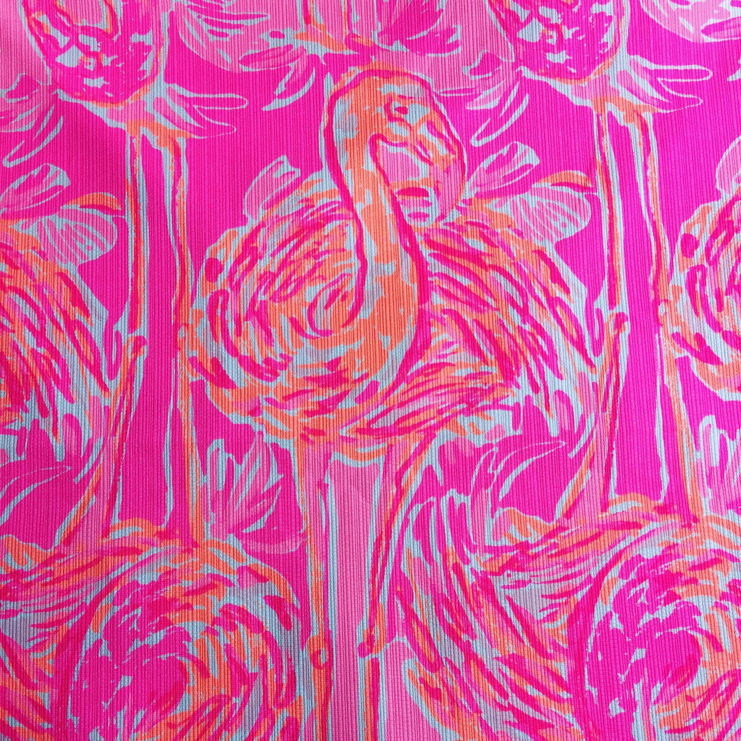 Lilly Pulitzer Fabric New 3 Patches Of Lilly Pulitzer Fabric Tappin It Back Spring